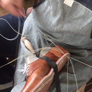 靴教室,だし縫い