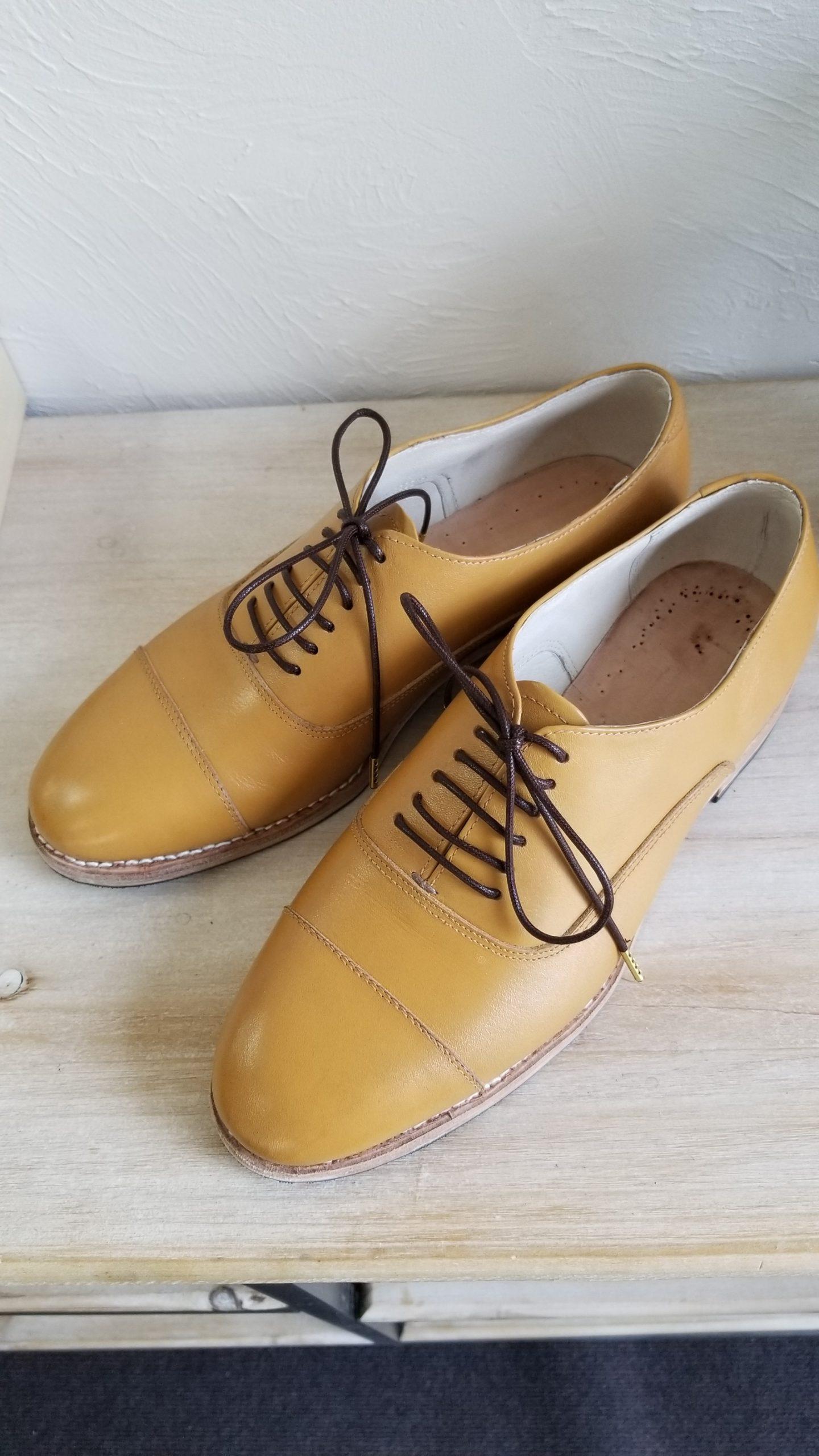 生徒さん靴完成